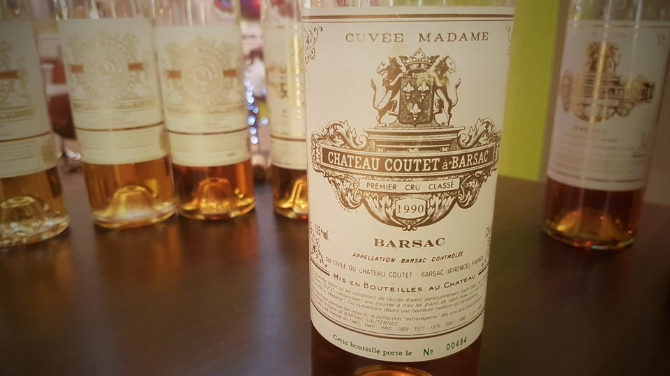 Coutet madame1990 bottle