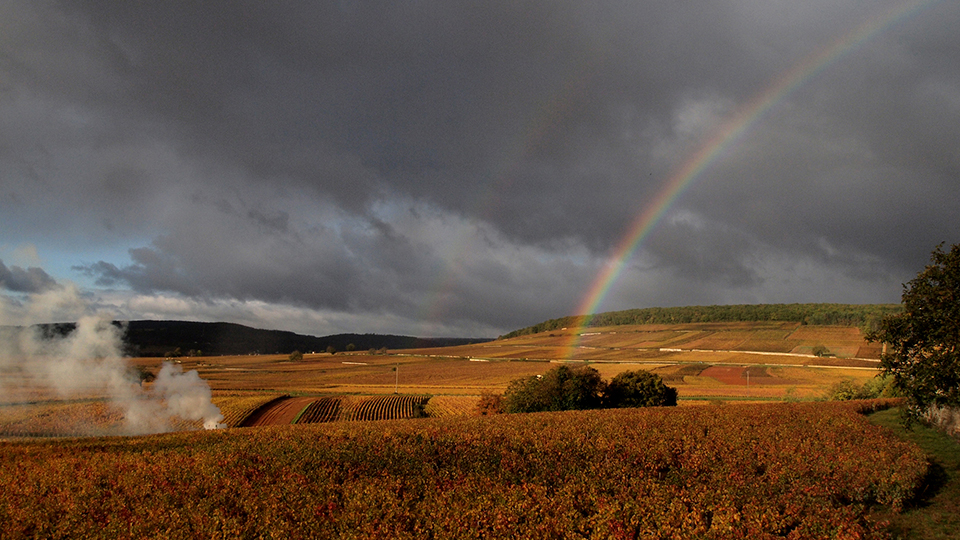Double rainbow over corton pougets copy