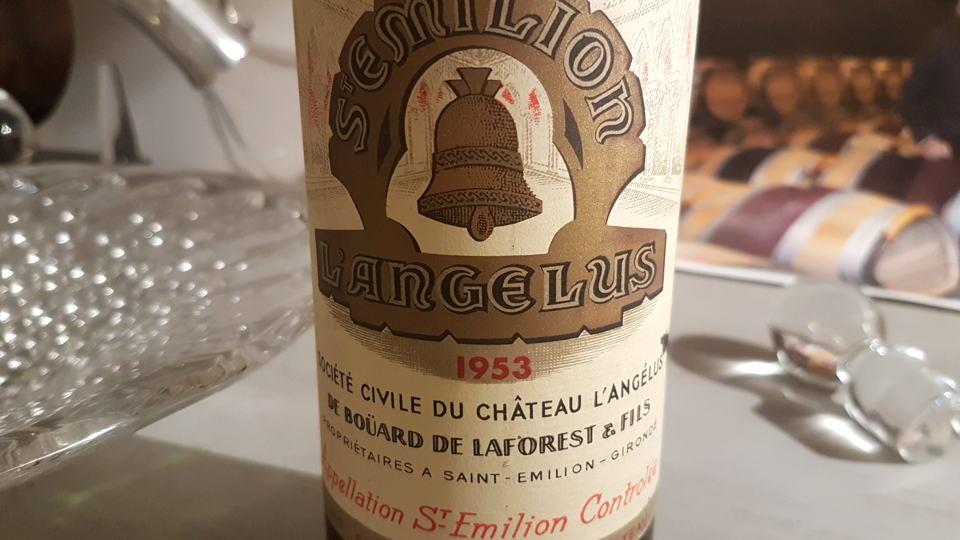 Angelus 1953 bottle