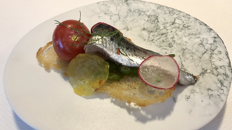 Marinated sardine... copy edited