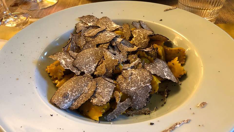 and now you dont (agnolotti del plin after a snowfall of white truffle) copy