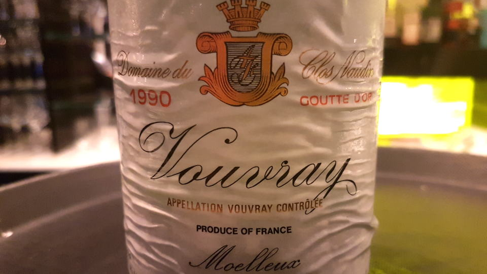 Vouvray 1990 foreau bottle