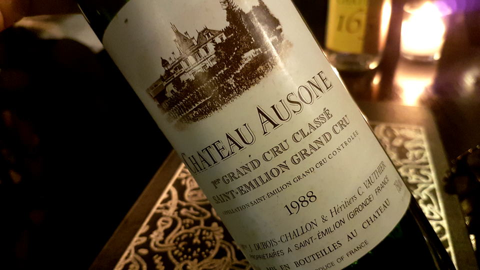 Ausone 1988 bottle
