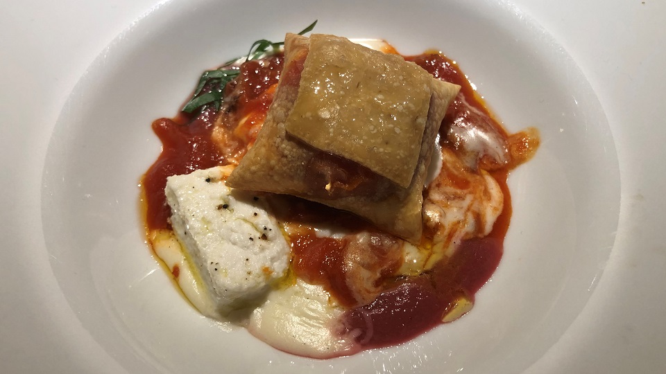 Crispy buffalo milk ricotta dn mozzarella cannelloni copy