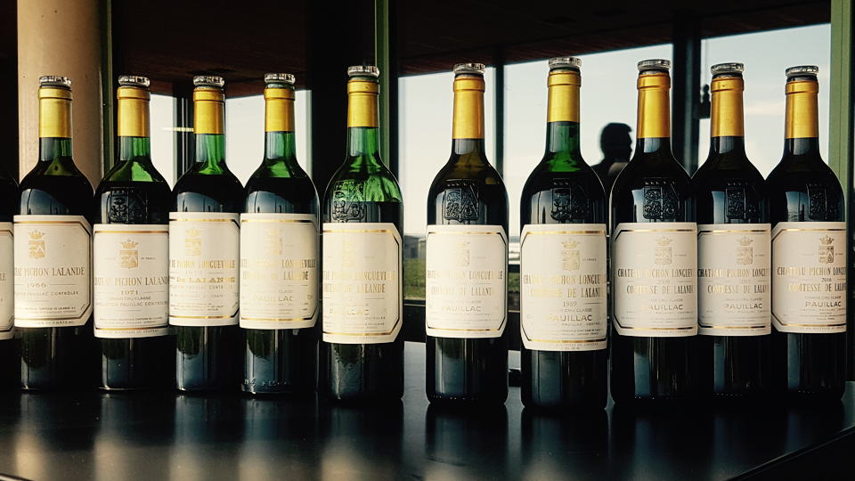 Pichon bottle line up
