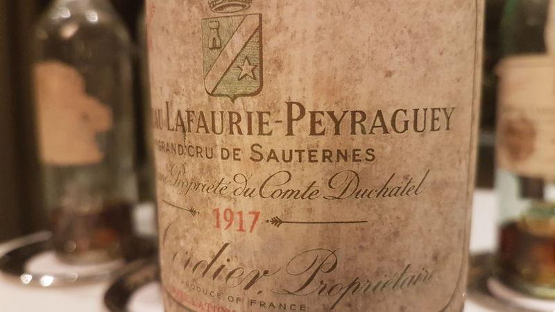 Lafaurie peyraguey 1917 bottle
