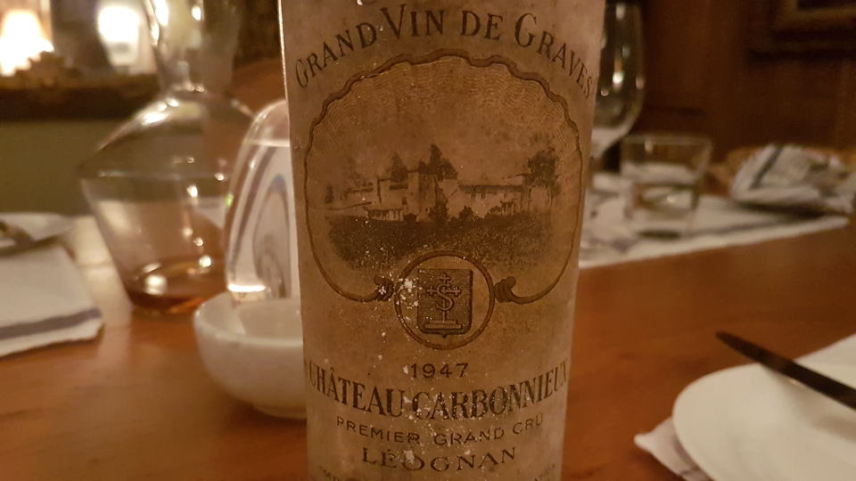 Carbonnieux 1947 bottle