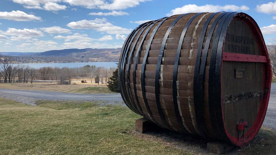 At keuka springs winery overlooking keuka lake