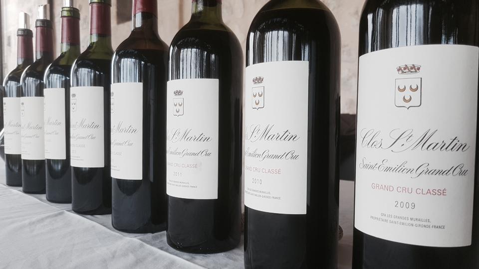 Clos saint martin bottles