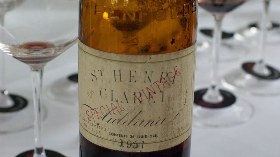 Penfolds 1957 st henri bottle