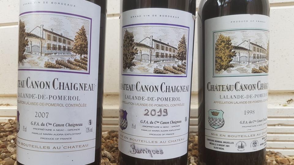 Canon chaigneau bottles