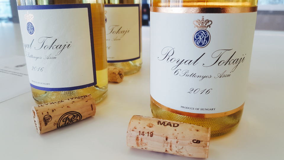 Royal tokaji bottles