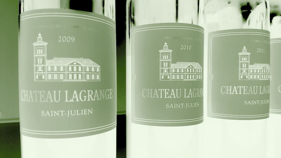 Lagrange 2009 and 2010 bottles
