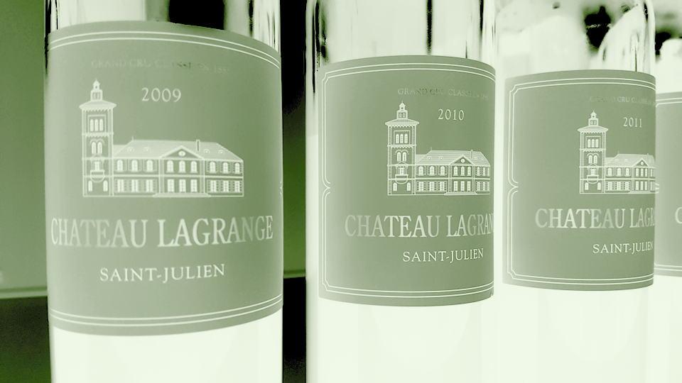 Lagrange 2009 and 2010 bottles