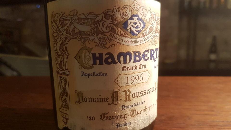 Chambertin 1996 rousseau