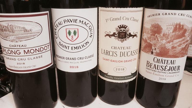 Saint emilion bottles