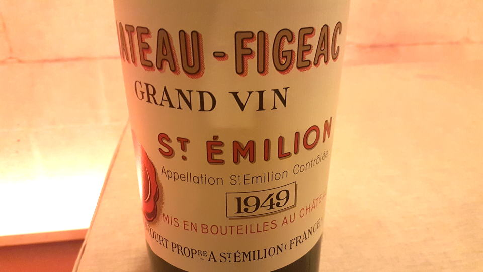 Figeac 1949 bottle