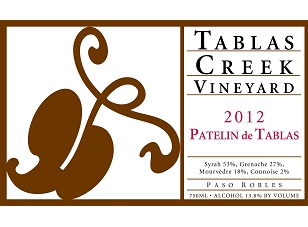 2012 Tablas Creek Patelin de Tablas ($20) 90 points