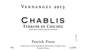 2013 Patrick Piuze Chablis Terroir de Chichée ($27) 90 points