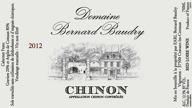 2012 Domaine Bernard Baudry Chinon ($20) 91 points
