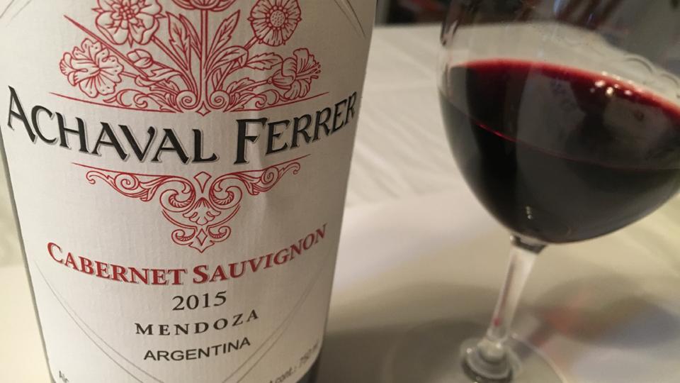 2015 Achaval Ferrer Cabernet Sauvignon ($25.00) 91