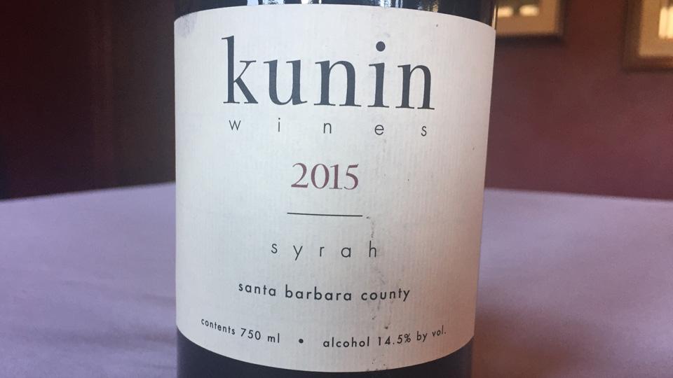 2015 Kunin Syrah ($24.00) 89