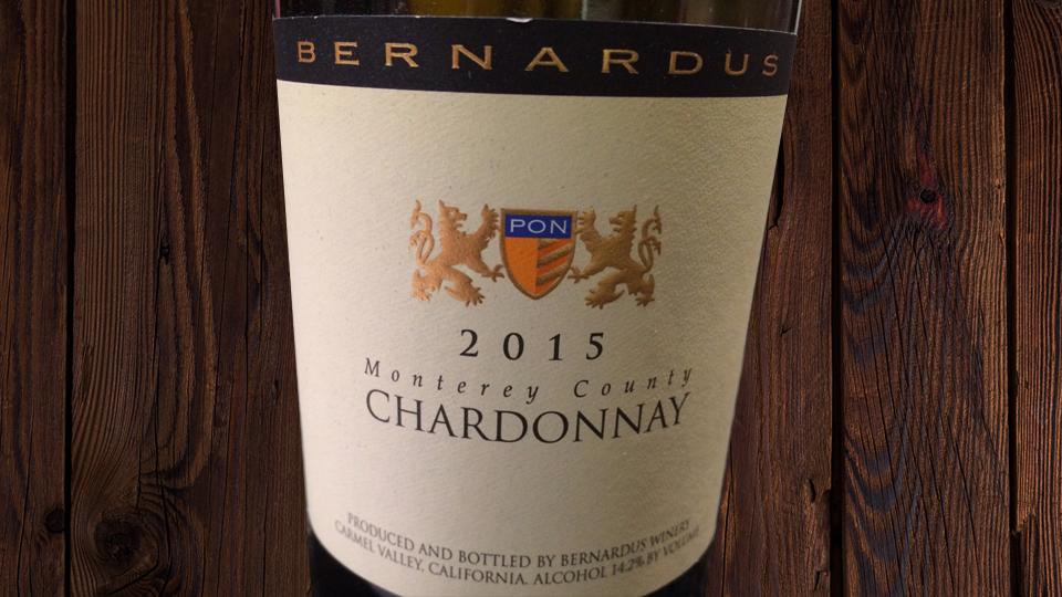 2015 Bernardus Winery Chardonnay ($25.00) 90