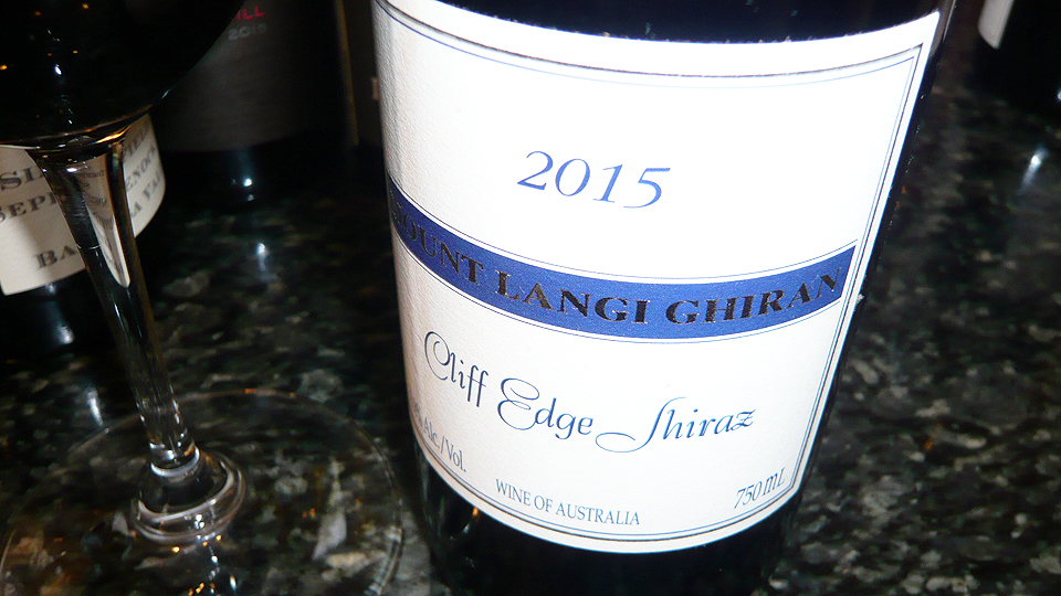 2015 Mount Langi Ghiran Shiraz Cliff Edge ($25.00) 92