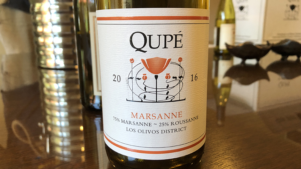 2016 Qupé Marsanne Los Olivos District ($22.00) 90