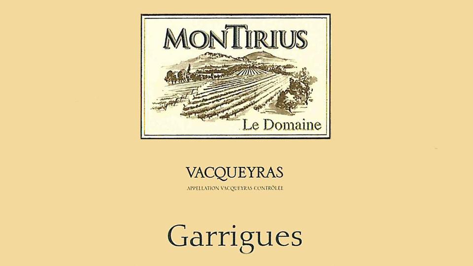 2015 Domaine Montirius Vacqueyras Garrigues ($25.00) 92