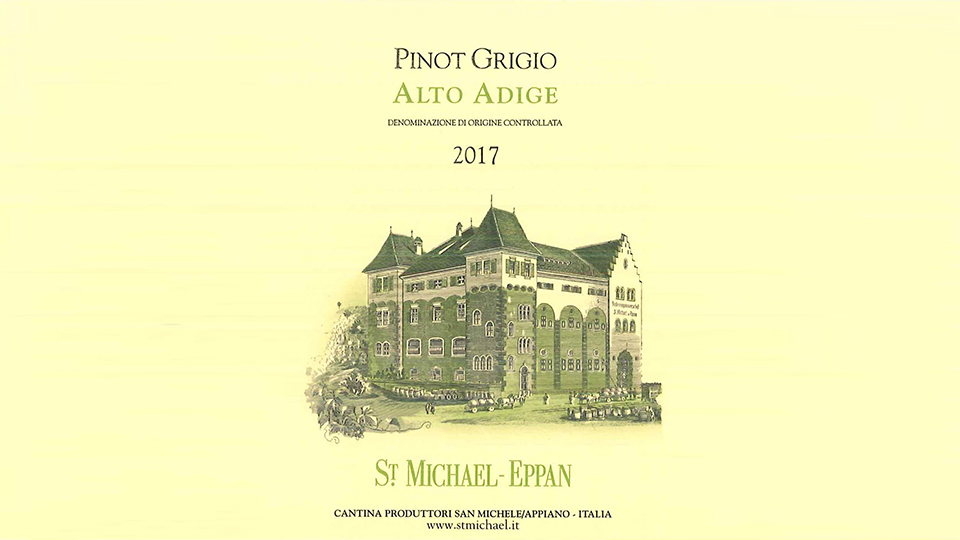 2017 St. Michael-Eppan Pinot Grigio ($24.00) 90