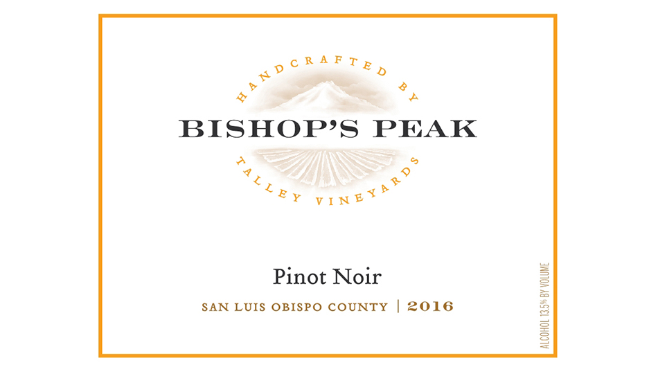 2016 Bishop's Peak Pinot Noir - San Luis Obispo County ($24.00) 91