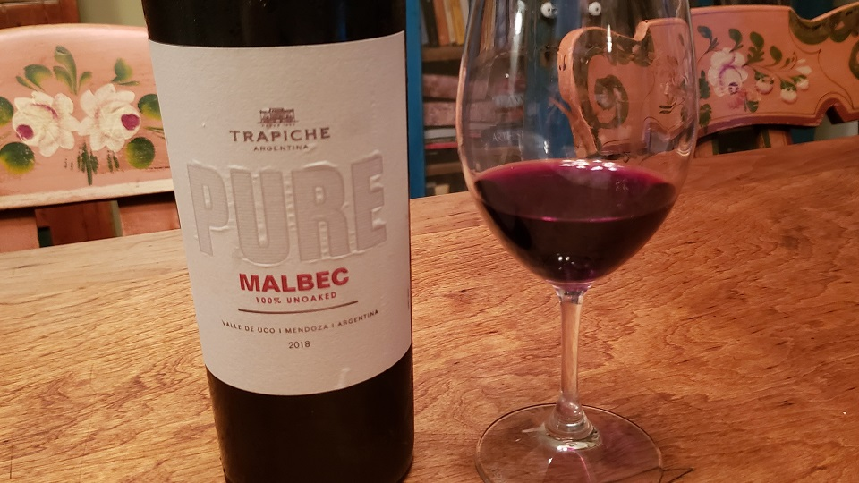 2018 Trapiche Pure Malbec Uco Valley ($15.00) 90