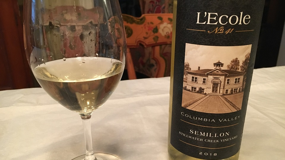 2017 L'Ecole No. 41 Sémillon Stillwater Creek Vineyard ($21.00) 91