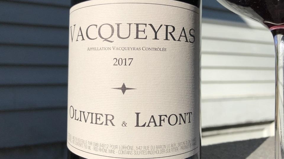 2017 Olivier & Lafont Vacqueyras ($22.00) 91