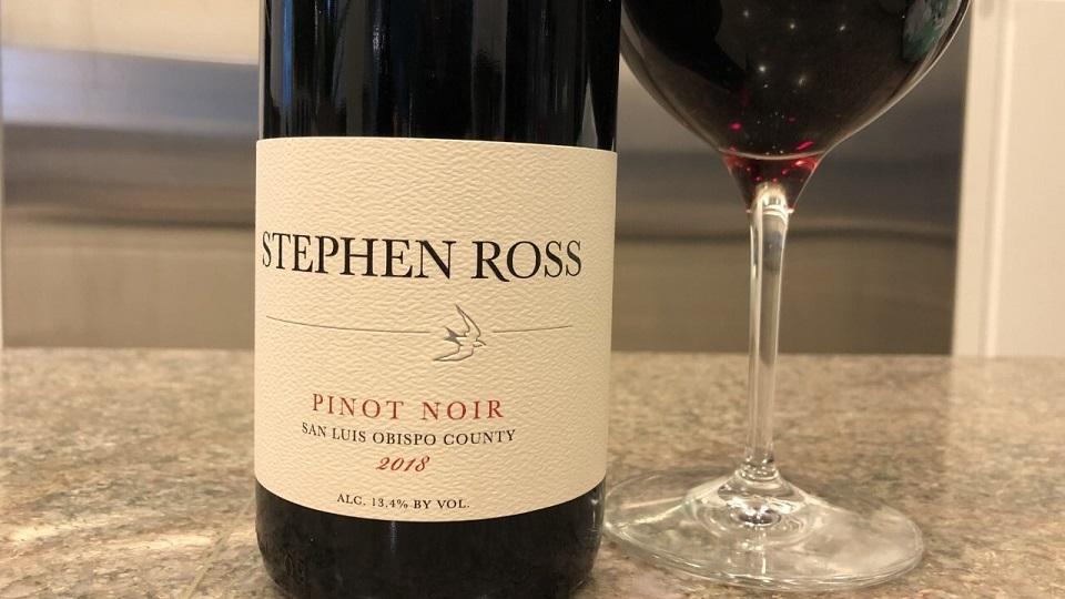 2018 Stephen Ross Pinot Noir San Luis Obispo County ($25.00) 91