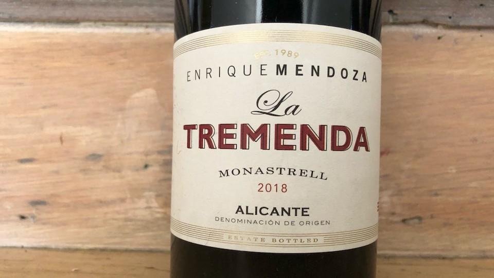 2018 Bodegas Enrique Mendoza Monastrell La Tremenda Alicante ($15.00) 90